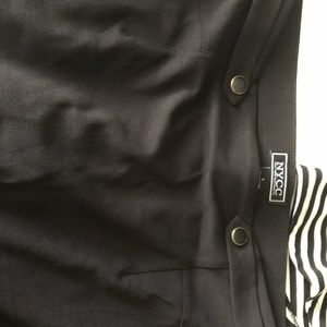 Black pencil skirt with button detail